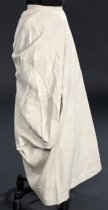 Image of side view of skirt, unbuttoned