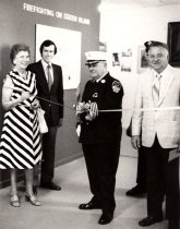 Image of photo of exhibit opening (Edna Hayes at left), 1980