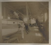 Image of Haughwout Boat Yard, photo by Empire Photo Publishing Co., ca. 1890-1910