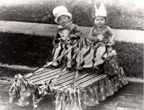 Image of photo of David and Marjorie Decker in parade costumes, 1926