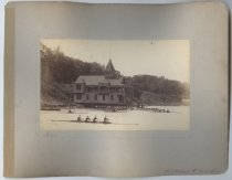 Image of Staten Island Athletic Club boat house, photo by Isaac Almstaedt, ca. 1885