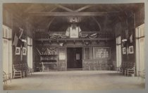 Image of S.I. Athletic Boat House. Interior, photo by Isaac Almstaedt, ca. 1885