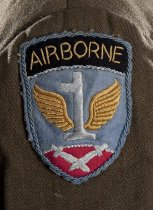 Image of detail of shoulder sleeve insignia (wearer's right sleeve)