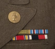 Image of detail of lapel and ribbons