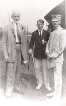Image of Max Schmidt (at right), Midland Beach, Staten Island, 1927