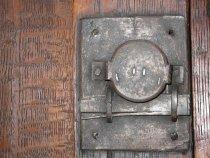 Image of detail, upper lock mechanism