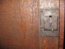 Image of detail, lower lock mechanism
