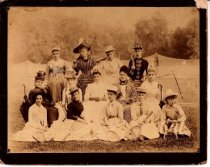 Image of Group portrait, Staten Island Ladies' Club, photo by I. Almstaedt, 1886-87