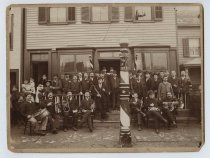 Image of In front of Pecoraro's Barber Shop, Rosebank, ca. 1910
