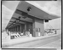 Image of Toll booths at Verrazano-Narrows Bridge, photo by H. Flamm, 1964