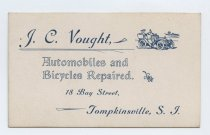 Image of business card, J.C. Vought, Tompkinsville