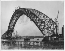 Image of Bayonne Bridge under construction, photo by Herbert A. Flamm, ca. 1931