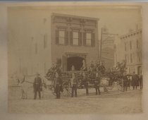 Image of Enterprise Hook & Ladder No. 1, Edgewater Fire Department, ca. 1895