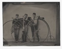 Image of Bicycle riders, ca. 1880-1885