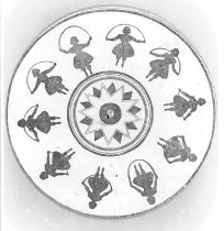 Image of Magic Wheel card (black and white photo)
