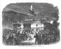 Image of detail (black and white photo), Attack On The Quarantine Establishment
