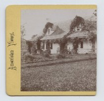 Image of Austen house, stereoview by H. Hoyer, ca. 1859