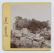 Image of Ruins of the Quarantine, stereoview by H. Hoyer, ca. 1859