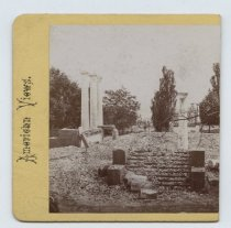 Image of Ruins at the Quarantine, stereoview by H. Hoyer, ca. 1859