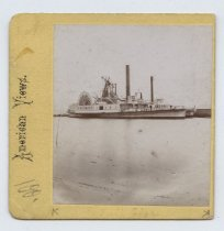 Image of Ferryboat Josephine, stereoview by H. Hoyer, ca. 1859