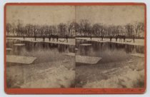 Image of Cutting Ice - Silver Lake - Stereoview