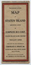 Image of Transportation Collection - Transportation Map of Staten Island