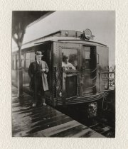Image of [Train and platform] - Print, Photographic