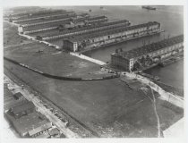 Image of [Aerial view of Stapleton piers] - Print, Photographic