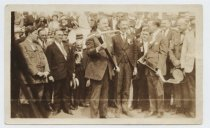 Image of Mayor Hylan breaking ground for Richmond-Brooklyn tunnel, 1923
