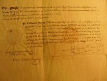 Image of detail, Appointment of Henry Perine, 1816 (item 77)