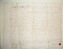 Image of Quit claim rent document for estate of Peter Perine, 1765 (item 33)