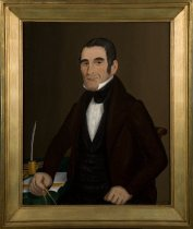 Image of Portrait of John Totten by artist John Bradley, 1834 (with frame)