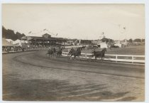 Image of Harness racing at Richmond County Fair, photo by E. Seehusen, 1909