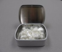 Image of view showing mints that were inside the tin