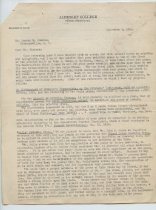 Image of Letter from M. W. Hamilton to G. Simmons, Sept. 4, 1941, pg. 1