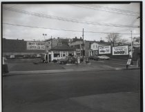 Image of Van Hoesen Bros. service station, photo by Herbert A.  Flamm, 1954