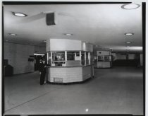 Image of SIRT ticket booths at St. George Ferry Terminal, 1955