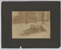 Image of Boys on sled, ca. 1898-1900 (Court Place, Richmond) (Series  7, item 17)