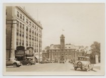 Image of Borough Hall, looking up Hyatt Street,  photo by Weitzman Photo Shop, 1931