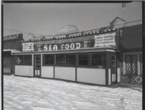 Image of Al Deppe's Clam & Oyster Bar, photo by Herbert A. Flamm, 1955