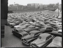 Image of St. George ferry terminal parking lot, photo by Herbert A. Flamm, 1956