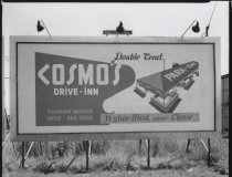 Image of Billboard for Cosmo's Drive-Inn, photo by Herbert A. Flamm, 1954