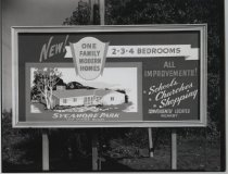Image of Billboard for Sycamore Park, photo by Herbert A. Flamm, 1955