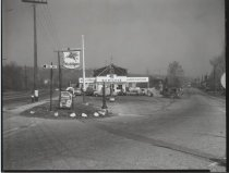 Image of Mobilgas service station, photo by Herbert A. Flamm, 1955