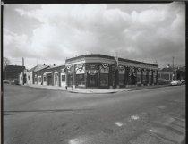 Image of Nelson K. Mintz automobile dealership, photo by Herbert A. Flamm, 1955