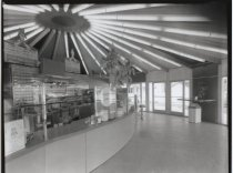Image of Pizza Clown interior, photo by Herbert A. Flamm,  ca. 1966-1969