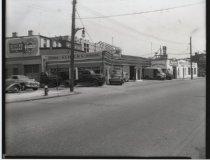 Image of Schick's Garage, photo by Herbert A. Flamm, ca. 1950