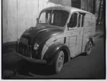 Image of Borden Company delivery truck, photo by Herbert A. Flamm, 1952