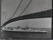 Image of Verrazano Narrows Bridge, photo by Herbert A. Flamm, 1964