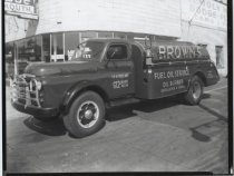Image of Brown's Fuel Oil Service truck, photo by Herbert A. Flamm, 1950